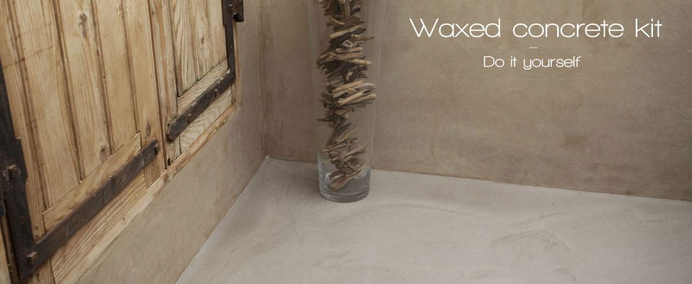 Wall and floor waxed concrete kit