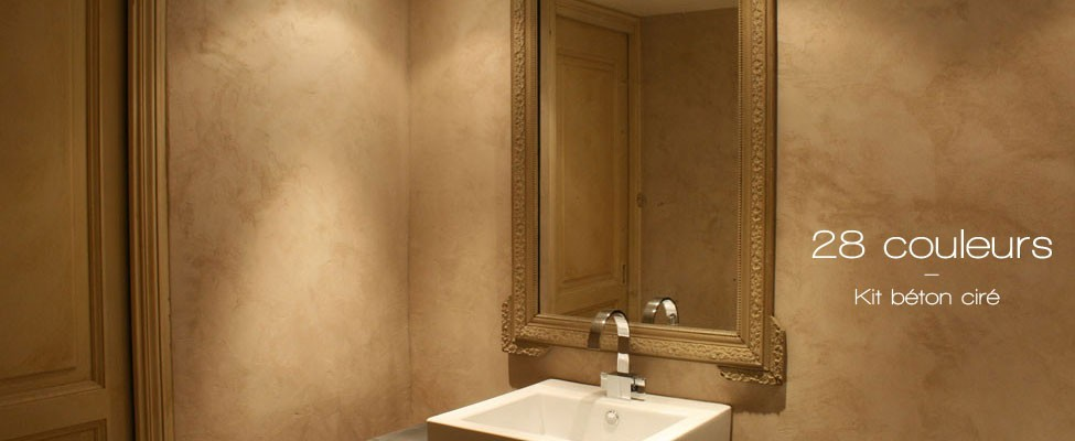 Béton ciré salle de bain